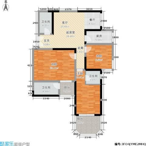 宏信国际花园3室0厅3卫1厨138.00㎡户型图