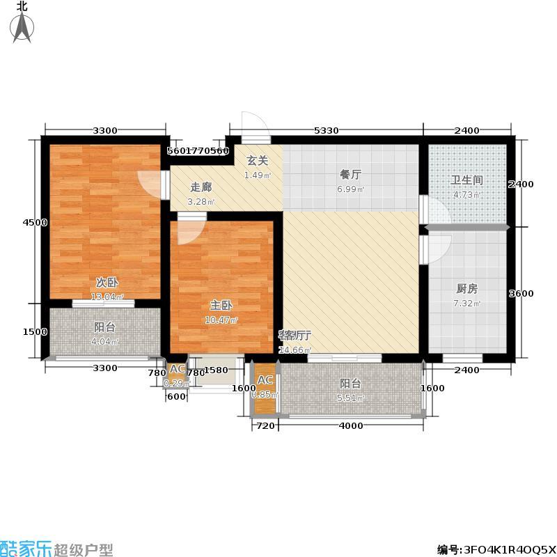 御景东城二期单-D户型