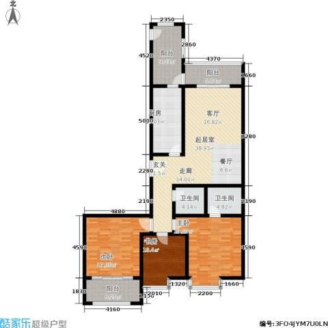 馨雅园3室0厅2卫1厨145.00㎡户型图