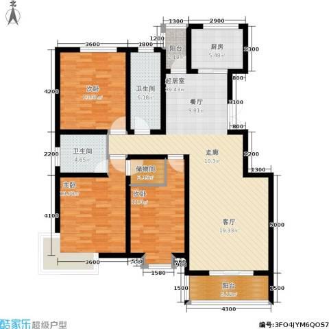 时丰姜溪花都3室0厅2卫1厨142.00㎡户型图