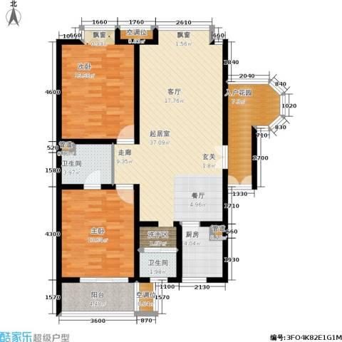 龙城四季2室0厅2卫1厨113.00㎡户型图