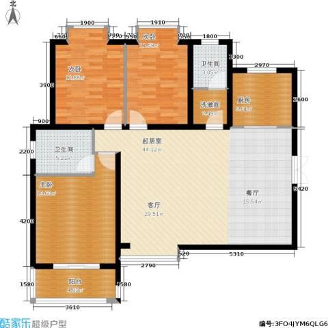 时丰姜溪花都3室0厅2卫1厨138.00㎡户型图