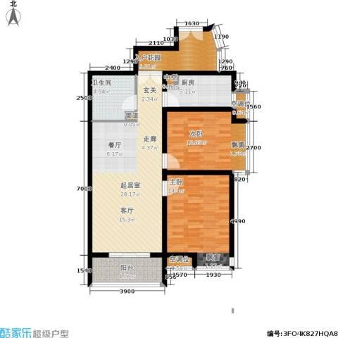 龙城四季2室0厅1卫1厨95.00㎡户型图
