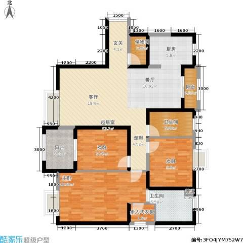曲江观山悦3室0厅2卫0厨147.00㎡户型图