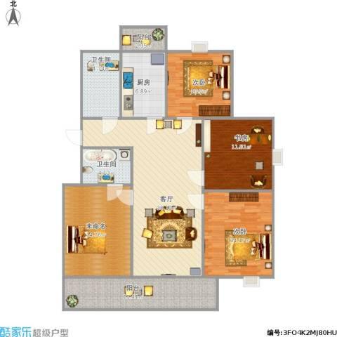 四季花苑3室1厅2卫1厨150.00㎡户型图