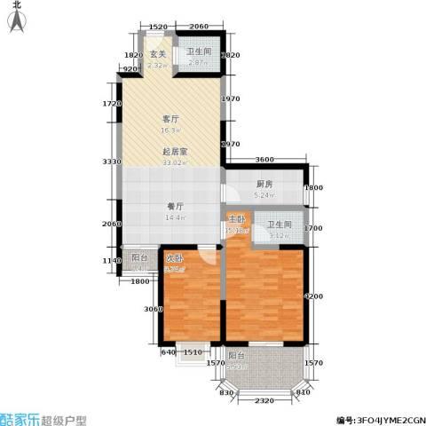 宏信国际花园2室0厅2卫1厨110.00㎡户型图
