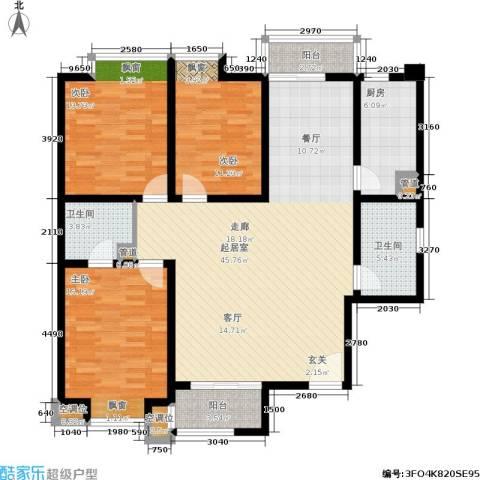 龙城四季3室0厅2卫1厨140.00㎡户型图