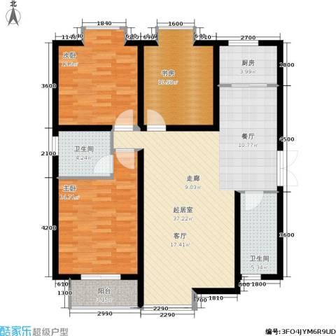 时丰姜溪花都3室0厅2卫1厨120.00㎡户型图