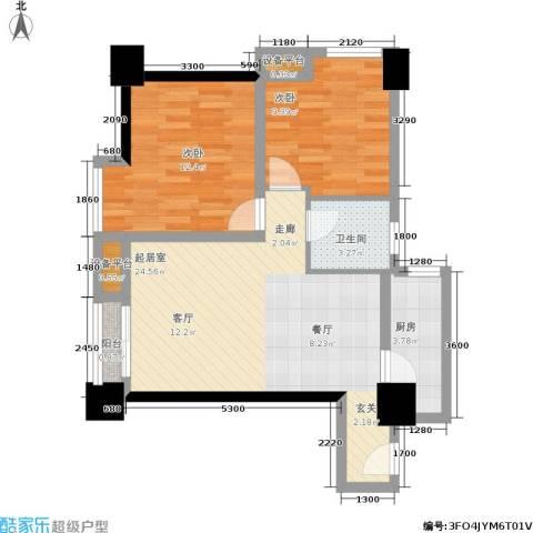 时丰姜溪花都2室0厅1卫1厨78.00㎡户型图