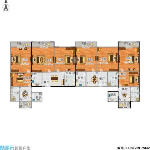 真光四街坊8室4厅4卫4厨461.00㎡户型图