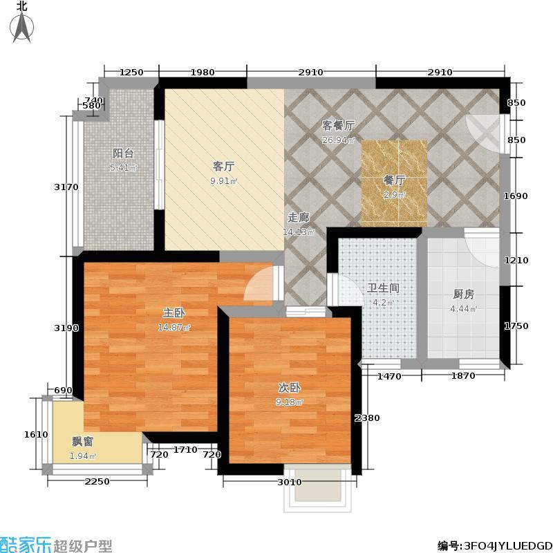颐和盛世86.10㎡18号楼E1户型