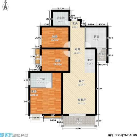 西江月3室1厅2卫1厨131.00㎡户型图