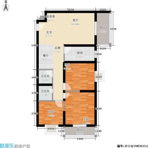 朱雀坊3室0厅2卫1厨135.00㎡户型图