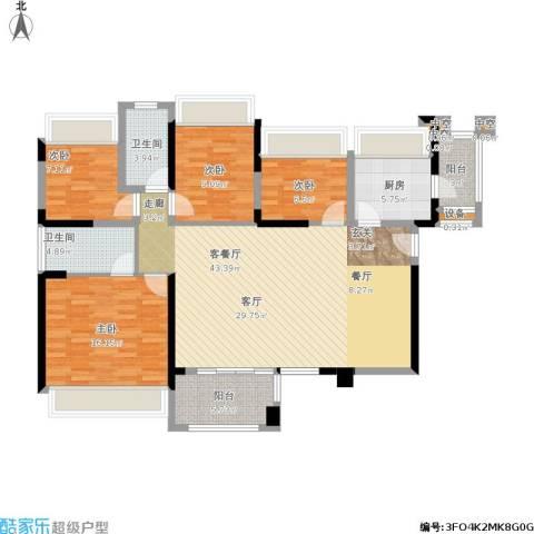 幸福城4室1厅2卫1厨152.00㎡户型图