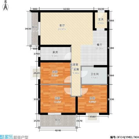 朱雀坊3室0厅1卫1厨120.00㎡户型图