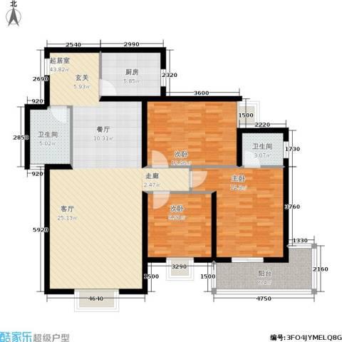 朱雀坊3室0厅2卫1厨141.00㎡户型图