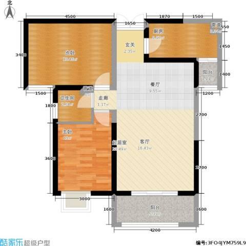 曲江观山悦2室0厅1卫1厨95.00㎡户型图