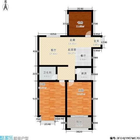 馨雅园3室0厅1卫1厨117.00㎡户型图