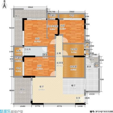 万科兰乔圣菲3室0厅2卫1厨160.00㎡户型图