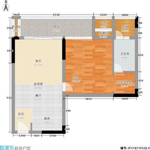 万科兰乔圣菲1室0厅1卫0厨68.00㎡户型图