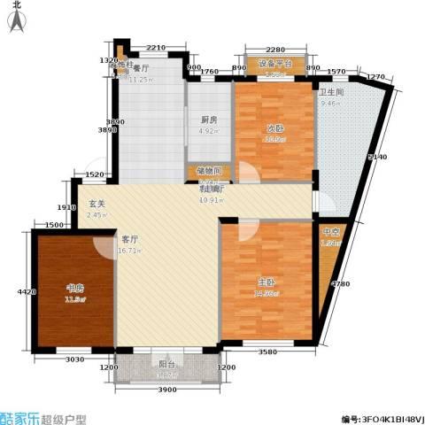 加州海岸3室1厅1卫1厨143.00㎡户型图