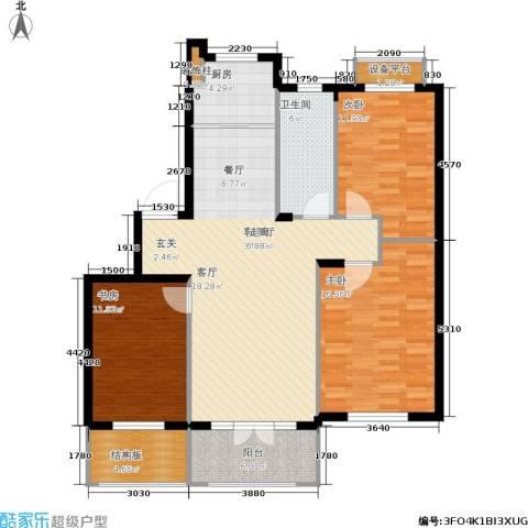 加州海岸3室1厅1卫1厨135.00㎡户型图