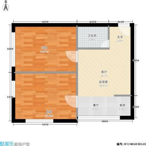 雅都2室0厅1卫0厨53.00㎡户型图