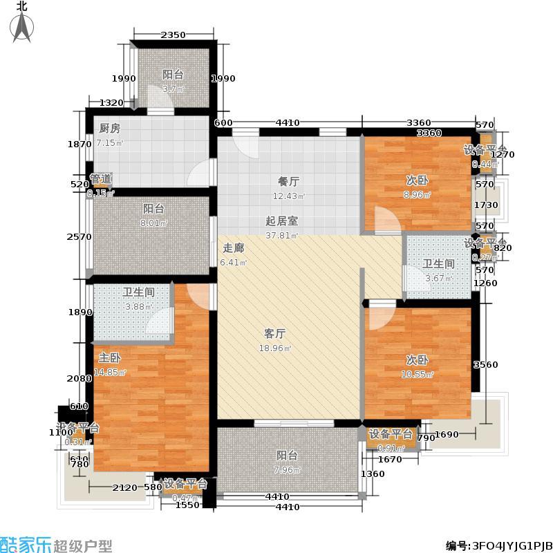 万科城市花园121.00㎡L1栋01单位面积12100m户型