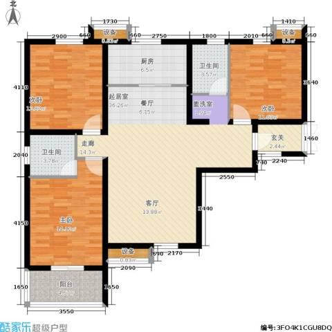 盛世春天3室0厅2卫1厨140.00㎡户型图