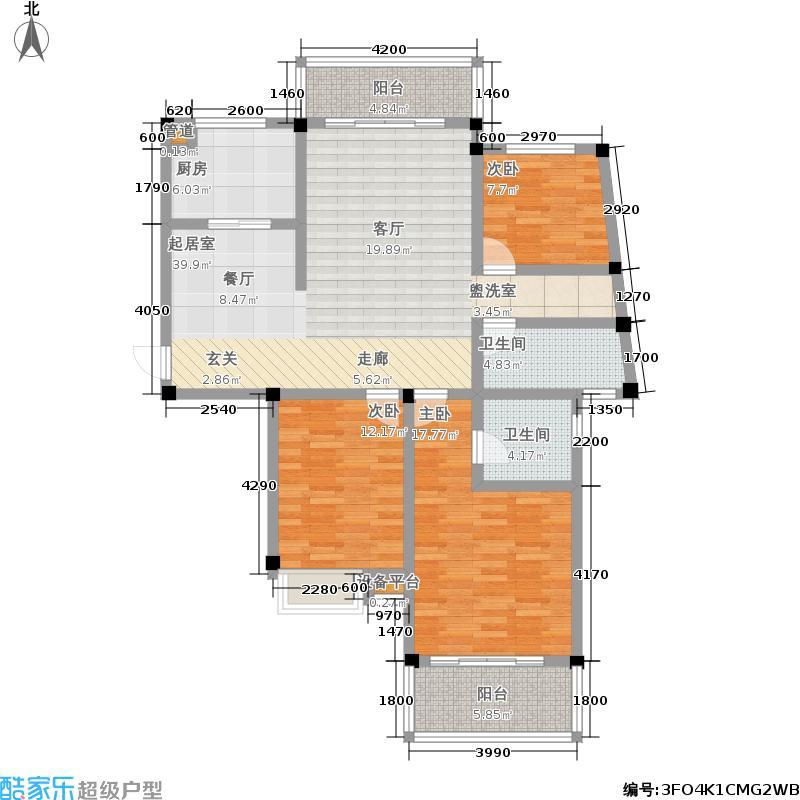 秀峰公园里113.00㎡秀峰・公园里6号楼b户型