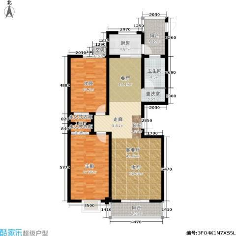 滨河悦秀2室1厅1卫1厨115.00㎡户型图