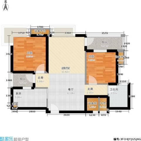 万科城市花园2室0厅1卫1厨72.00㎡户型图