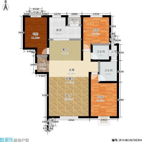 滨河悦秀3室1厅2卫1厨150.00㎡户型图