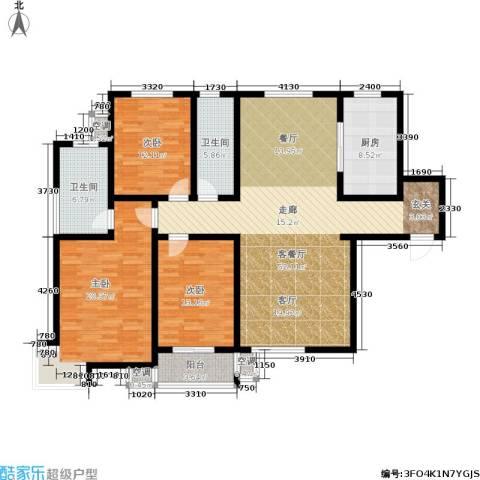滨河悦秀3室1厅2卫1厨142.00㎡户型图