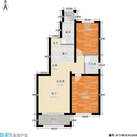 艾博龙园2室0厅1卫1厨107.00㎡户型图