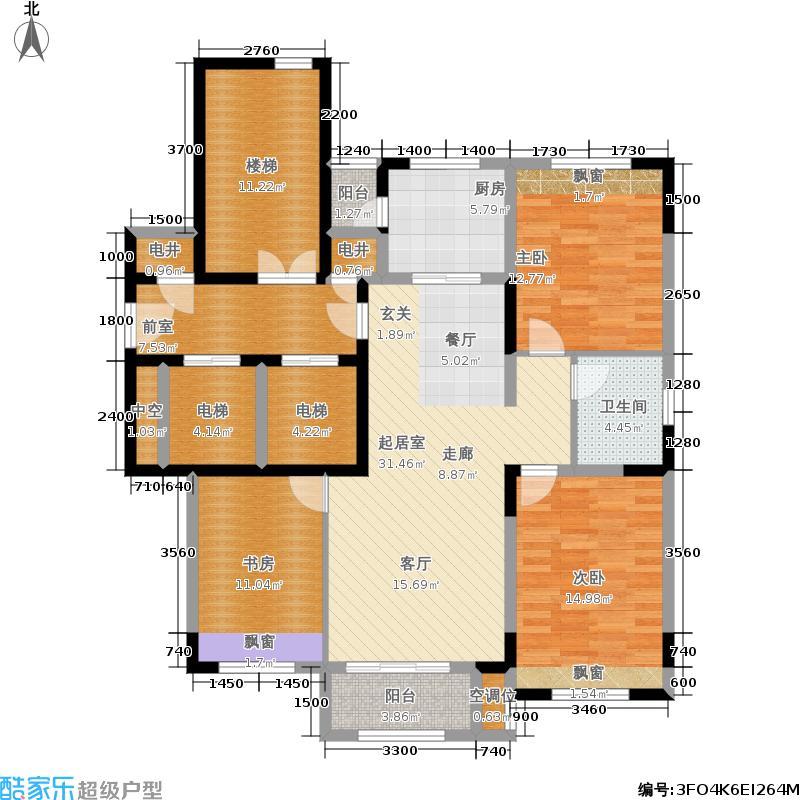 艾博龙园116.01㎡A户型3室2厅1卫
