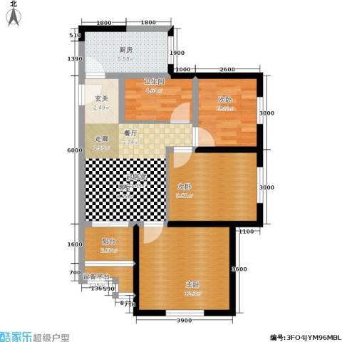 经发新北居3室0厅1卫1厨82.00㎡户型图