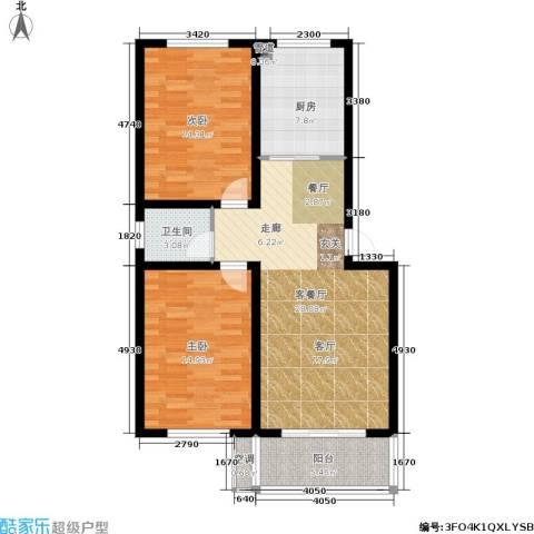 平安小镇2室1厅1卫1厨106.00㎡户型图