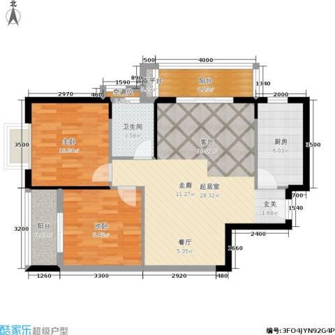 圣地亚哥2室0厅1卫1厨93.00㎡户型图