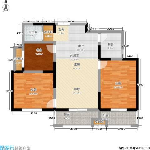 圣地亚哥3室0厅1卫1厨119.00㎡户型图