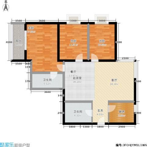 紫气东来3室0厅2卫1厨129.00㎡户型图