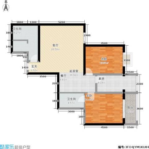 紫气东来2室0厅2卫1厨121.00㎡户型图