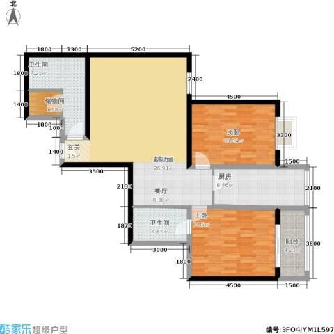 紫气东来2室0厅2卫1厨163.00㎡户型图