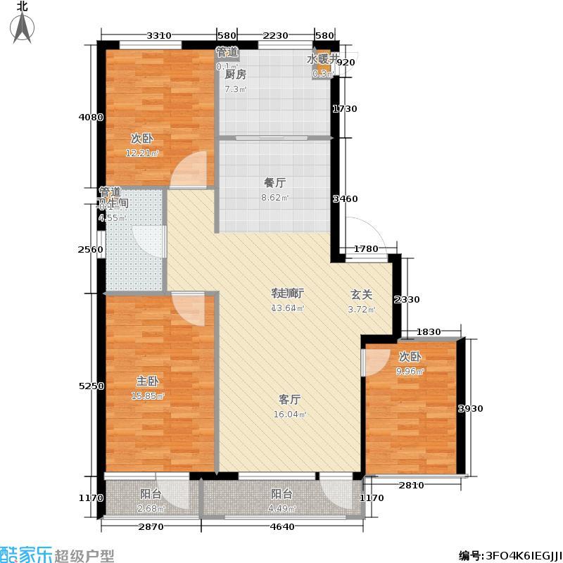 蓝色康桥F区115.00㎡3室2厅1卫