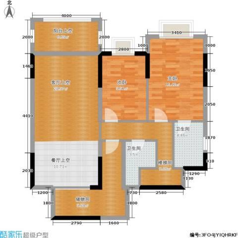 万科天河御品2室0厅2卫0厨195.00㎡户型图