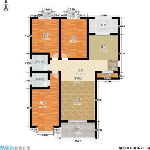 滨河悦秀3室1厅2卫1厨146.00㎡户型图