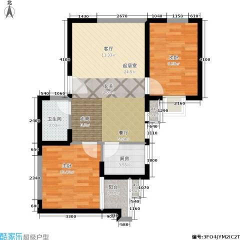 仕府公馆2室0厅1卫1厨74.00㎡户型图