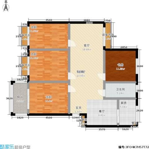 兴达广场4室1厅1卫1厨164.00㎡户型图
