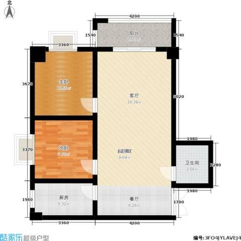 郦景澜庭2室0厅1卫1厨80.00㎡户型图