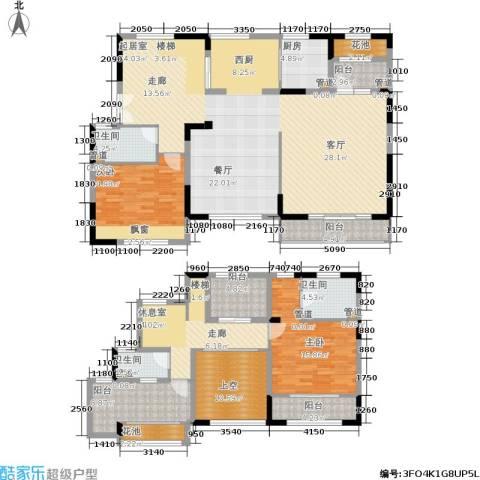 景瑞望府2室0厅3卫1厨180.00㎡户型图
